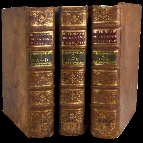 Dictionnaire de la Langue Française - Abbé Féraud - 3 tomes