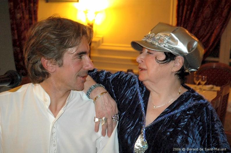 Édith MOINEAU accompagnée de son pianiste Patrick JOLY - Château de Valombré - 2006