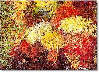 Automne Flamboyant Edith Moineau Artiste Peintre